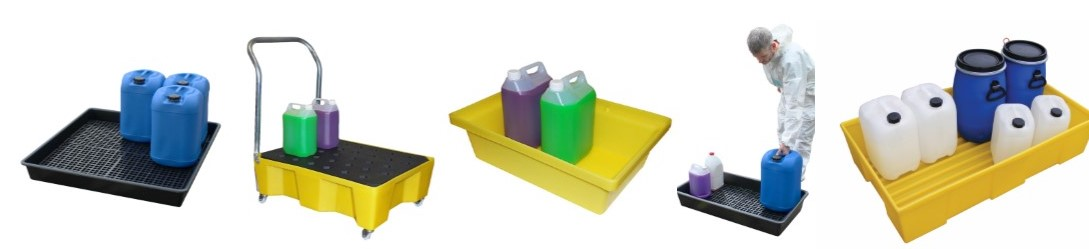picture of Polythene and steel drip tray and small container range