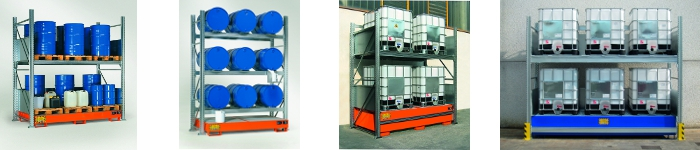 picture of shelving for drums & ibcs
