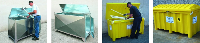 picture of fluorescent tube containers