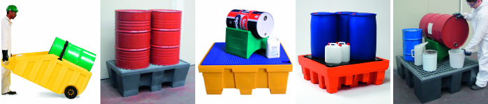 picture of polyethylene sump pallets