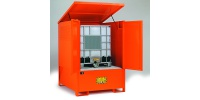 Compact Steel Storage Sump Cabinet for 1 IBC