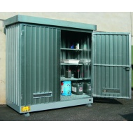 Multipurpose out door storage Container 2m² with Containment Sump