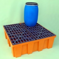 Budget Polythene Sump Pallet for 4 Drums