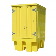 IBC Spill Bund Pallet with External Steel Cabinet