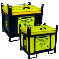 Battery Containers with Steel Frames