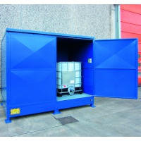Storage Cabinet with Containment Sump for 2 IBCs