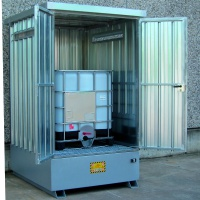 Corrugated Galvanized Steel sump Cabinet for 1 IBC
