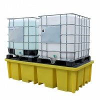 Twin IBC Spill Pallet Bund with 4 Way Fork Entry