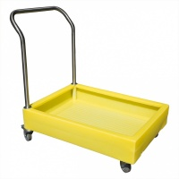 Polyethylene drum Sump Trolley with handle and 100 litre bund