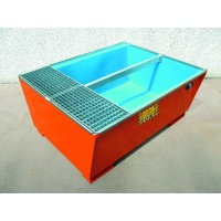 Premium Steel Sump Pallet With Polyethylene Inner Lining For 1 IBC