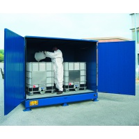 Thermally Insulated Storage Sump Cabinet for 2 IBC
