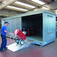 Multipurpose Container 15m² with Spill Collection Sump