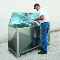 Steel Container For Storage of Fluorescent Tubes and Strip Lights