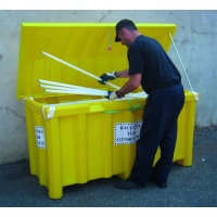 Polythene Container for Waste Fluorescent Tubes and lamps with lid