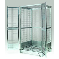 Locking Security Mesh Cage with lid