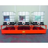 Premium Dispensing Sump Pallet For 3 IBCs ECO333