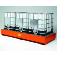 Premium Steel Sump Pallet For 3 IBCs ECO330