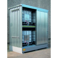Galvanized Sump Cabinets for 4 IBCs