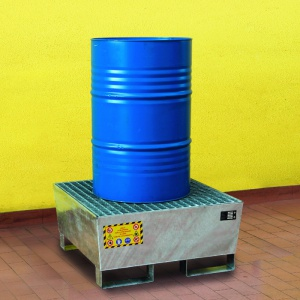 Budget Galvanized Sump Pallet for 1 Drum
