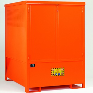Compact Steel Storage Spill Sump Cabinet for 1 IBC