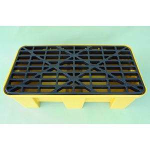 Budget Polyethylene Sump Pallet for 2 Drum plastic deck