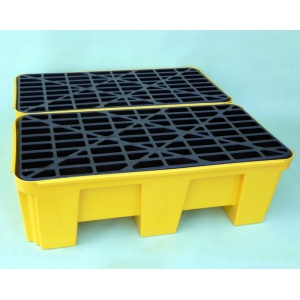 Budget Polyethylene Sump Pallet for 2 Drums connected