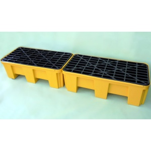 Budget Polyethylene Sump Pallet for 2 Drums locked