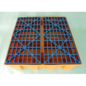 Budget Polythene Sump Pallet for 4 Drums plastic deck