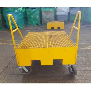 IBC Sump Spill Bund Pallet with Wheels and castors