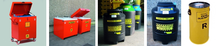 picture of used oil containers