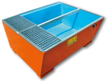 picture of steel sump pallet with inner polyethylene tank